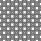 Abstrakcjonistycznego tła bezszwowa mozaika koncentryczni okręgi w diagonalnym przygotowania Retro projekta wektoru tapeta Zdjęcie Stock