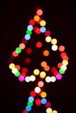 Abstrakcjonistycznego tła bożonarodzeniowe światła kolorowy drzewo Zdjęcia Royalty Free