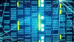 abstrakcjonistycznego tła futurystyczna technologia Loopable zbiory wideo