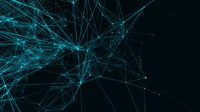 abstrakcjonistycznego tła futurystyczna technologia Piękny plexus royalty ilustracja