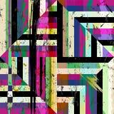 abstrakcjonistycznego tła geometryczny wzór royalty ilustracja