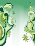 abstrakcjonistycznego tła green kwiecista Obraz Royalty Free