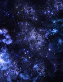 Abstrakcjonistycznego tła gwiaździsty niebo Zdjęcia Royalty Free