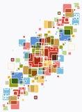 abstrakcjonistycznego tła jaskrawy koloru sześcian Zdjęcia Stock