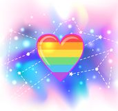 abstrakcjonistycznego tła kierowy ilustracyjny tęczy wektor Symbol LGBT społeczność duma gejów Wektorowy illus royalty ilustracja
