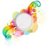 abstrakcjonistycznego tła kolorowa fala Obraz Royalty Free