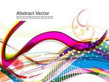 abstrakcjonistycznego tła kolorowa fala Fotografia Stock