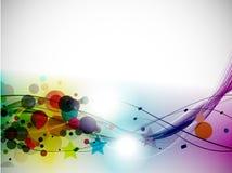 abstrakcjonistycznego tła kolorowa linia fala Obrazy Royalty Free