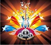 abstrakcjonistycznego tła kolorowa muzyka royalty ilustracja