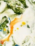 abstrakcjonistycznego tła kolorowa ręka malująca Zdjęcie Royalty Free