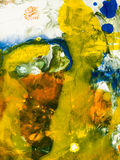 abstrakcjonistycznego tła kolorowa ręka malująca Fotografia Royalty Free