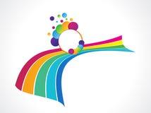 abstrakcjonistycznego tła kolorowa tęcza Fotografia Royalty Free