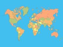 abstrakcjonistycznego tła kolorowy ilustracyjny mapy świat royalty ilustracja