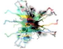 10 abstrakcjonistycznego tła kolorowy obudowywający pastelowy dopisek Zdjęcie Stock
