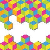 abstrakcjonistycznego tła kolorowy sześcianów mozaiki wektor Zdjęcia Royalty Free