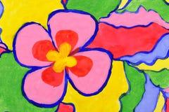 abstrakcjonistycznego tła kwiatu śmieszna akwarela ilustracji