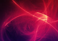 Abstrakcjonistycznego tła Lekkie linie I krzywy Z cząsteczkami ilustracji