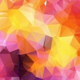 Abstrakcjonistycznego tła niski poli- textured trójbok kształtuje w przypadkowym ilustracji