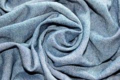 Abstrakcjonistycznego tła okręgu kwiatu luksusowa fala lub faliści fałdy cajg tekstura Obrazy Royalty Free