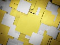 Abstrakcjonistycznego tła robić złoci i srebni szorstcy kwadraty Zdjęcia Stock