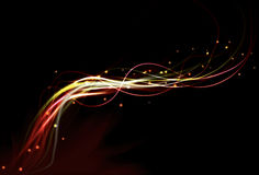 abstrakcjonistycznego tła rozmyty skutka ogienia światło Obrazy Royalty Free