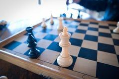 abstrakcjonistycznego tła szachowy ilustracyjny królewiątko Obrazy Stock
