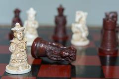 abstrakcjonistycznego tła szachowy ilustracyjny królewiątko Zdjęcia Royalty Free