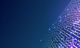 Abstrakcjonistycznego tła technologii elektroniczny temat ilustracja wektor