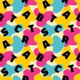 Abstrakcjonistycznego tła wektorowy bezszwowy wzór w moda retro stylu Memphis projekta włoska grupa 80s ilustracja wektor