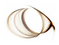 abstrakcjonistycznego tła złote linie falisty biel Zdjęcia Royalty Free