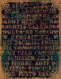 abstrakcjonistycznego tła abstrakcjonistyczni listy Zdjęcie Stock