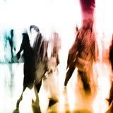 abstrakcjonistycznego tła biznesowi miasta ludzie Zdjęcia Stock