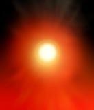 Abstrakcjonistycznego tła czarna i jaskrawa czerwona luminescencja Fotografia Stock