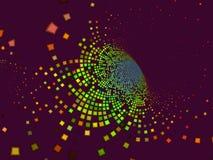 Abstrakcjonistycznego tła dynamiczny techno Fotografia Stock