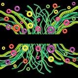 abstrakcjonistycznego tła fantastyczna kwiecista trawa Zdjęcie Royalty Free