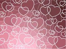 abstrakcjonistycznego tła geometryczna serc mozaika Obraz Stock