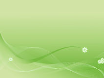 abstrakcjonistycznego tła green kwiecista Obrazy Royalty Free