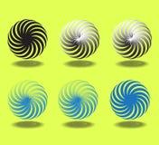 abstrakcjonistycznego tła ilustracyjny ruchu spirali wektor Zdjęcia Royalty Free