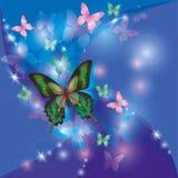 abstrakcjonistycznego tła jaskrawy butterflie target3682_0_ Obraz Royalty Free