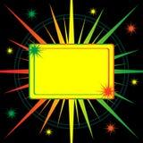 abstrakcjonistycznego tła jaskrawy starburst royalty ilustracja