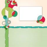 abstrakcjonistycznego tła kolorowa etykietka Zdjęcie Stock