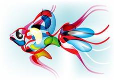 abstrakcjonistycznego tła kolorowa ryba Zdjęcie Royalty Free