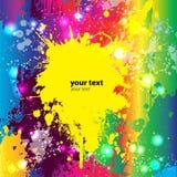 abstrakcjonistycznego tła kolorowy grunge wektor Royalty Ilustracja