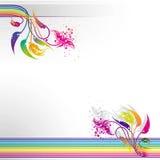 abstrakcjonistycznego tła kolorowy kwiecisty pasiasty Zdjęcie Royalty Free
