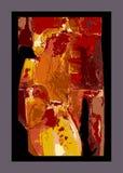 Abstrakcjonistycznego tła kolorowy odosobniony na czerni Fotografia Royalty Free