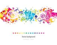 abstrakcjonistycznego tła kolorowy wektor Zdjęcia Royalty Free