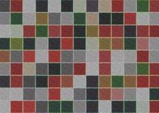 Abstrakcjonistycznego tła kwadrata stubarwny wzór Zdjęcia Stock