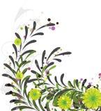 abstrakcjonistycznego tła kwiecisty deseniowy biel Obrazy Royalty Free