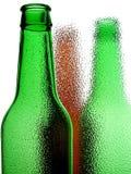 abstrakcjonistycznego tła piwna butelka Fotografia Royalty Free