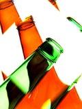 abstrakcjonistycznego tła piwna butelka Obrazy Stock